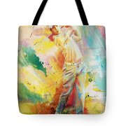 Golf Action 01 Tote Bag by Catf