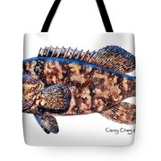 Goliath Grouper Tote Bag by Carey Chen