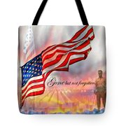 Gone But Not Forgotten Military Memorial Tote Bag by Barbara Chichester