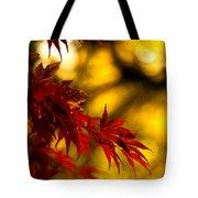 Graceful Leaves Tote Bag by Mike Reid