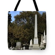 Graceland Chicago - The Cemetery of Architects Tote Bag by Christine Till