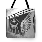 Graffiti In The Windy City Tote Bag by Christine Till