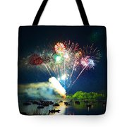 Grand Finale Over The Lake Tote Bag by Sandi OReilly