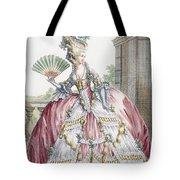 Grand Robe A La Francais, Engraved Tote Bag by Claude Louis Desrais
