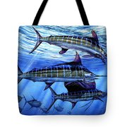 Grand Slam Lure And Tuna Tote Bag by Terry Fox