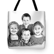 Grandchildren Portrait Tote Bag by Peter Piatt