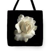 Grandeur Ivory Rose Flower Tote Bag by Jennie Marie Schell