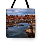 Granite Dells At Watson Lake Arizona 2 Tote Bag by Dave Dilli