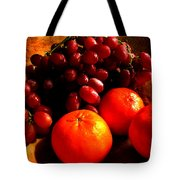 Grapes And Tangerines Tote Bag by Greg Allore