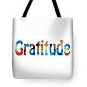 Gratitude 2 - Inspirational Art Tote Bag by Sharon Cummings