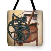 GREAT-GRANDMOTHER'S WASHING MACHINE Tote Bag by Daniel Hagerman