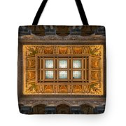 Great Hall Ceiling Library Of Congress Tote Bag by Steve Gadomski