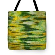 Green And Yellow Abstract Tote Bag by Dan Sproul