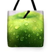 Green Apple Top Tote Bag by John Rizzuto
