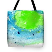 Green Blue Art - Making Waves - By Sharon Cummings Tote Bag by Sharon Cummings
