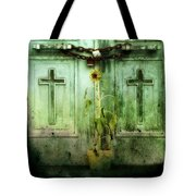 Green Doors Tote Bag by Gothicolors Donna