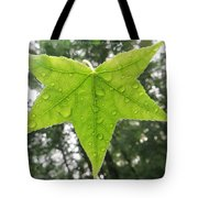 Green droplets Tote Bag by Sonali Gangane