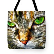 Green-eyed Monster Tote Bag by Bill Caldwell -        ABeautifulSky Photography