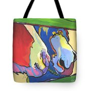 Green Fence Tote Bag by Pat Saunders-White