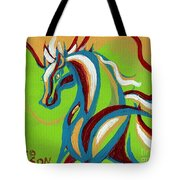 Green Horse Tote Bag by Genevieve Esson