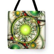 Green Jewelry Tote Bag by Anastasiya Malakhova