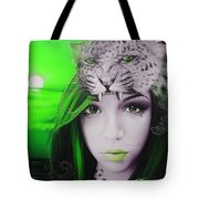 'green Moon'					 Tote Bag by Christian Chapman Art