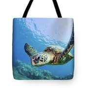 Green Sea Turtle - Maui Tote Bag by M Swiet Productions