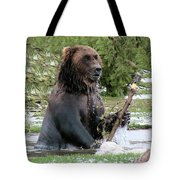 Grizzly Bear 6 Tote Bag by Thomas Woolworth