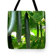 Growing Cucumbers Tote Bag by Zina Stromberg