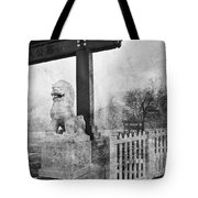 Guardian Of The Gate Tote Bag by Theresa Tahara
