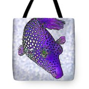 Guinea Fowl Puffer Fish In Purple Tote Bag by Bill Caldwell -        ABeautifulSky Photography