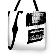 Guitar Graphic In Black And White Tote Bag by Chris Berry