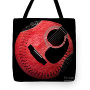 Guitar Strawberry Baseball Tote Bag by Andee Design