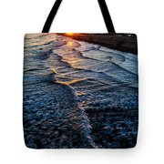 Gulf Sunset Tote Bag by Perry Webster