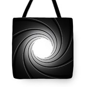 Gun Barrel From Inside Tote Bag by Johan Swanepoel