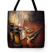 Gun - The Adventures Code  Tote Bag by Mike Savad