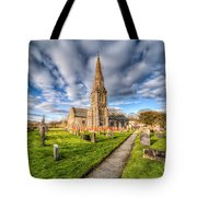 Gwyddelwern Church Tote Bag by Adrian Evans