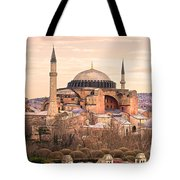 Hagia Sophia Mosque - Istanbul Tote Bag by Luciano Mortula