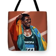 Haile Gebrselassie Tote Bag by Paul Meijering