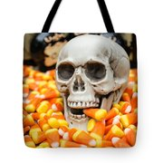 Halloween Candy Corn Tote Bag by Edward Fielding