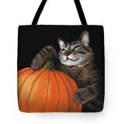 Halloween Cat Tote Bag by Anastasiya Malakhova