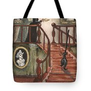 Halloween Witch Tote Bag by Margaryta Yermolayeva