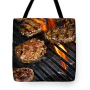 Hamburgers On Barbeque Tote Bag by Elena Elisseeva