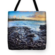 Hana Bay Sunrise Tote Bag by Inge Johnsson