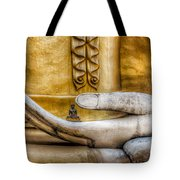 Hand Of Buddha Tote Bag by Adrian Evans