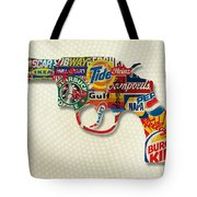 Handgun Logos Tote Bag by Gary Grayson
