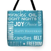 Hanukkah Fun Tote Bag by Linda Woods
