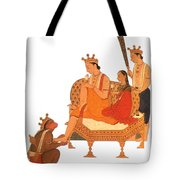 Hanuman Worshipping Rama Tote Bag by Photo Researchers