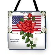 Happy Birthday America Tote Bag by Anne Norskog