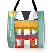 Happy Day Card Tote Bag by Linda Woods